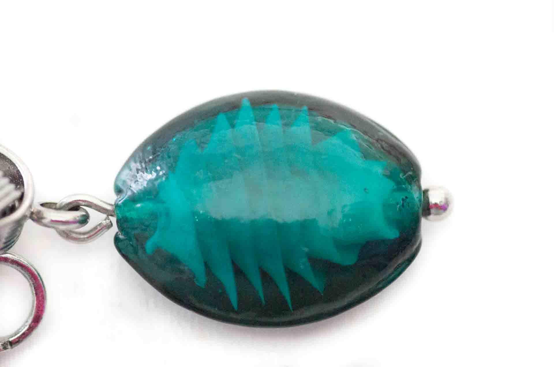 orecchini vetro verde 5