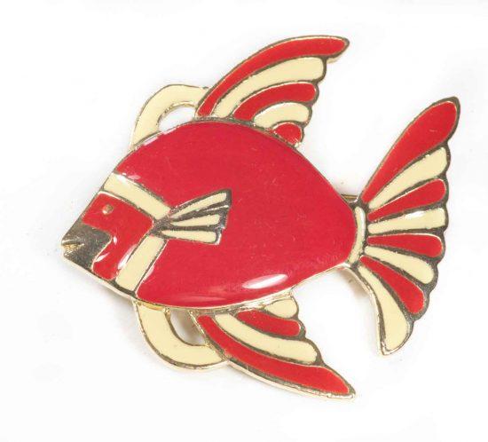 spilla pesce rosso 1